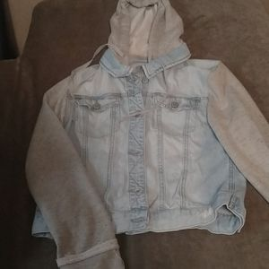 4/$25 Large Mudd Jean jacket with gray sleeves